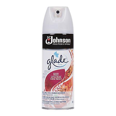 Glade Super Fresh Scent Air Spray - Aerosol - 13.8 fl oz (0.4 quart) - Super Fresh - 12 / Carton - Odor Neutralizer