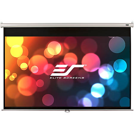 Elite Screens Manual Series - 85-INCH 1:1, Pull Down Manual Projector Screen with AUTO LOCK, Movie Home Theater 8K / 4K Ultra HD 3D Ready, 2-YEAR WARRANTY , M85XWS1""