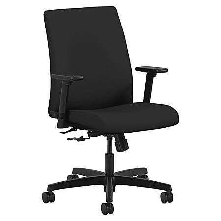 HON® Ignition® Low-Back Task Chair, Black