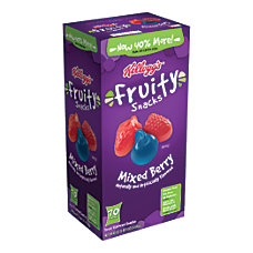 Kelloggs Mixed Berry Fruity Snacks Pack