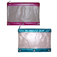 Inkology Transparent Binder Pencil Pouches 10