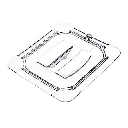 "StorPlus 1/6-Size Plastic Handled Lids, 7/8""H x 6 3/8""W x 6 3/4""D, Clear, Pack Of 6"