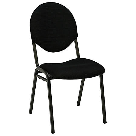 Realspace® Stacking Banquet Chair, Black