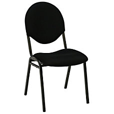 Realspace Stacking Banquet Chair Black