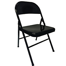 Realspace Metal Folding Chairs Black Set