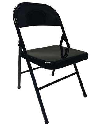 Reale Metal Folding Chairs Black Set Of 4 By Office Depot Officemax