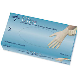 Ultra Powder-Free Synthetic Vinyl Exam Gloves, Small, Off White, 100 Gloves Per Box, Case Of 10 Boxes