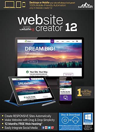 Website Creator 12, Download Version
