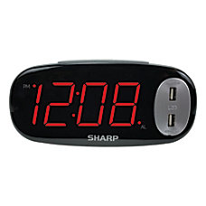 Sharp Large Display LED Digital Alarm