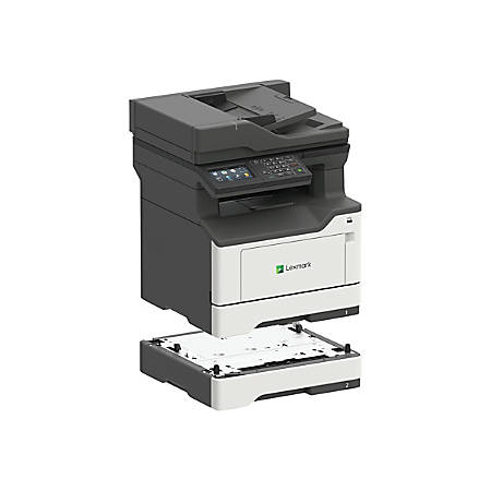 Lexmark MX420 MX421ade Laser Multifunction Printer - Monochrome - Copier/Fax/Printer/Scanner - 42 ppm Mono Print - 1200 x 1200 dpi Print - Automatic Duplex Print - 1200 dpi Optical Scan - 350 sheets Input - Gigabit Ethernet