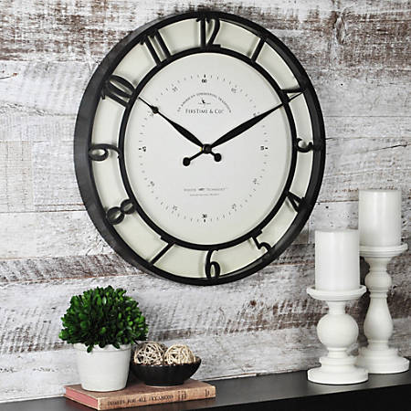 "FirsTime® Kensington Whisper Wall Clock, 18"" x 1 1/2"", Oil-Rubbed Bronze"
