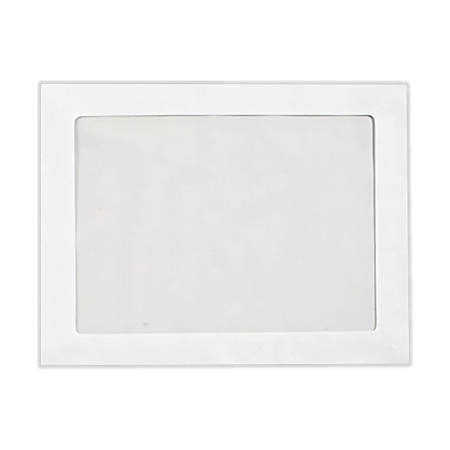 "LUX Full-Face Window Envelopes With Moisture Closure, #6 3/4, 10"" x 13"", Bright White, Pack Of 1,000"