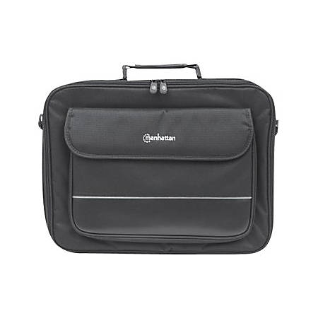 "Manhattan Empire II 17"" Laptop Briefcase, Black - Top Load, Fits Most Widescreens Up To 17"""
