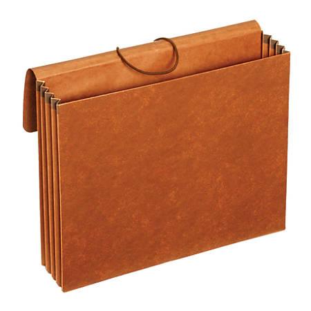 "Pendaflex® Letha-Tone® Standard Expanding Wallets, 3 1/2"" Expansion, 10"" x 12"", Brown"