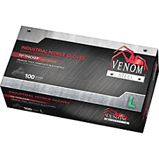 Venom Steel Industrial Nitrile Gloves Powder