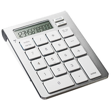 SMK Link iCalc Bluetooth® Calculator And Keypad, Silver