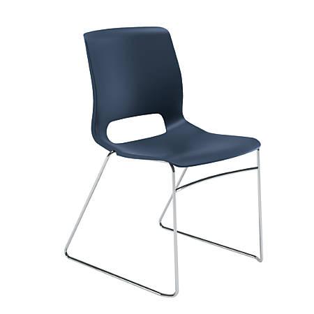 HON® Motivate Sled-Base Stacking Chair, Regatta, Set Of 4