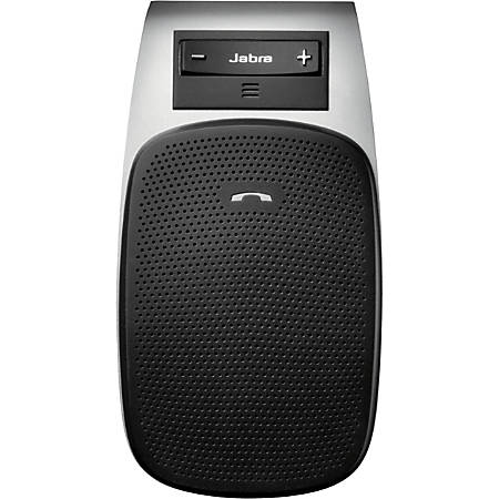 Jabra Drive Wireless Bluetooth Car Hands-free Kit - USB - 33 ft Range - Call Answer, Call End, Redial, Auto Pairing, Auto-off, Speakerphone, Voice Dial, Call Reject, Voice Guidance - Built-in Microphone, Speaker - Black