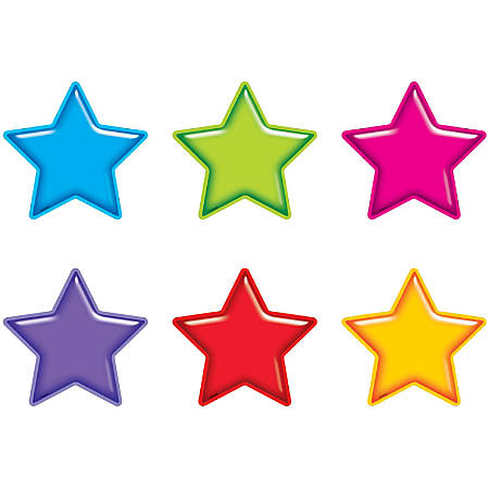 Trend® Classic Accents® Variety Pack, Gumdrop Stars, Pre-K To Grade 5, Pack Of 36