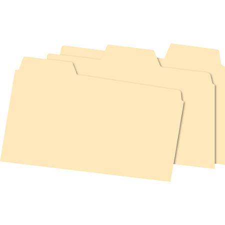 """Office Depot® Brand Index Card Guides With Blank Tabs, 5"""" x 8"""", Manila, Pack Of 100"""