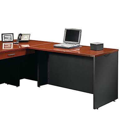Sauder® Via Desk Return, Classic Cherry/Soft Black