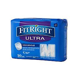 FitRight Ultra Protective Underwear Medium 28