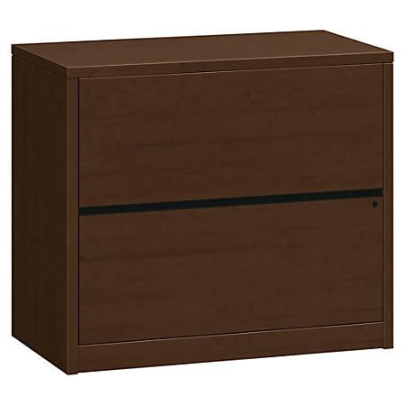"""HON® 10500 Series Lateral File, 2-Drawer, 29 1/2""""H x 36""""W x 20""""D, Mocha"""