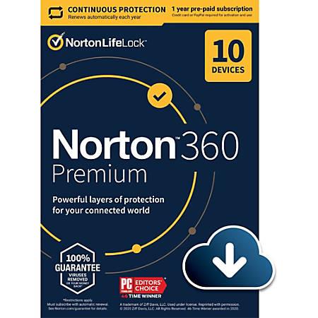 Norton 360 Premium 75GB EN 1 User 10 Device 12 Month