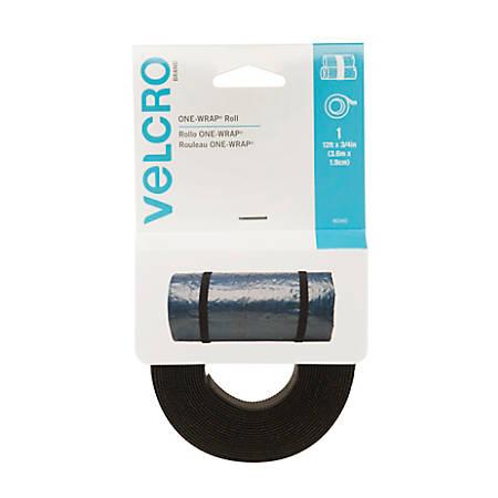 "VELCRO® Brand GET-A-GRIP® Straps, 3/4"" x 12', Black"