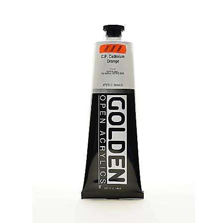 Golden OPEN Acrylic Paint, 5 Oz Tube, Cadmium Orange (CP)