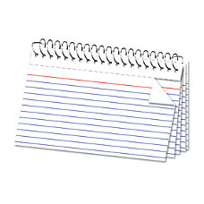 Office Depot Brand Spiral Index Cards