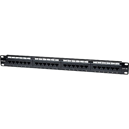 Intellinet Cat5e UTP 24-Port Patch Panel, 1U