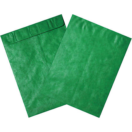 "Office Depot® Brand Tyvek® Envelopes, 10"" x 13"", Green, Pack Of 100"