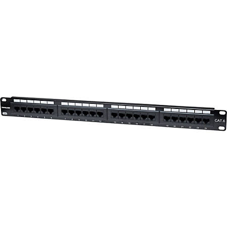 Intellinet Network Solutions 24-Port Rackmount Cat6 UTP 110/Krone Patch Panel, 1U - Supports 22 to 26 AWG Stranded and Solid Wire