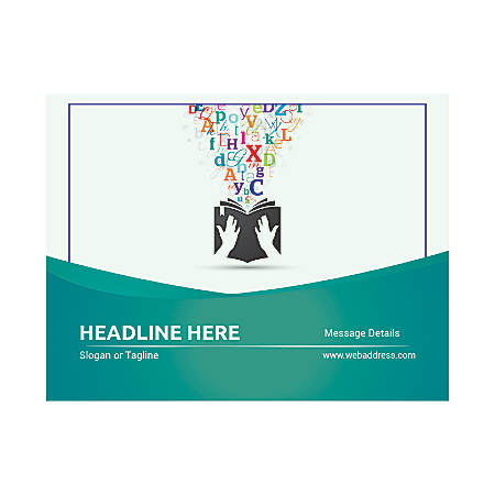 Custom Flyers, Horizontal, Books With Letters