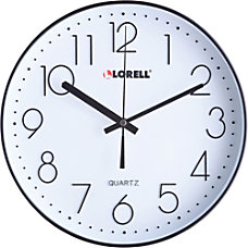 Lorell 12 Quiet Wall Clock Black