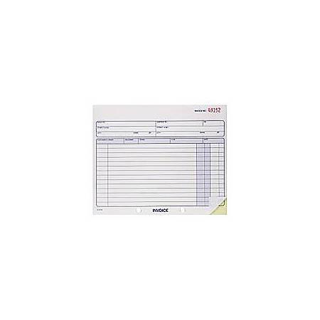 """Adams® Invoice Books, 2-Part, 7 1/4"""" x 8 7/16"""", Multicolor, 50 Sets Per Book, 6 Books Per Carton"""