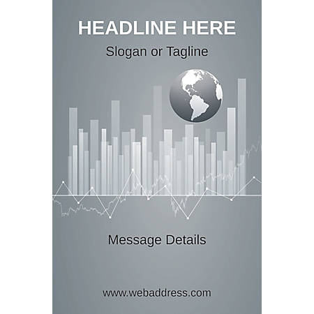 Adhesive Sign, Business Globe, Vertical
