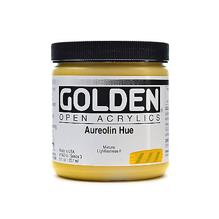 Golden OPEN Acrylic Paint, 8 Oz Jar, Aureolin Hue