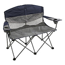 Stansport Double Apex Folding Chair GrayBlue