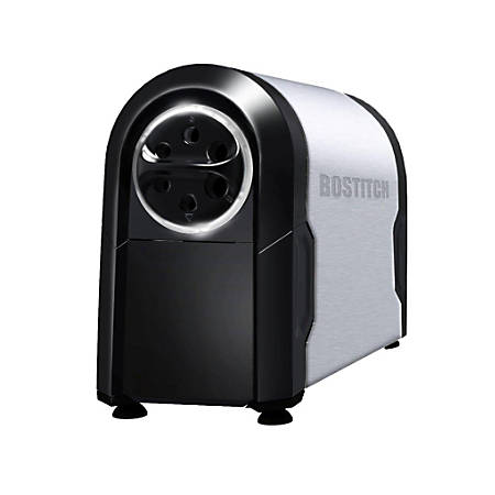 "Bostitch® Super Pro Glow Commercial Electric Pencil Sharpener, 11 3/16"", Black/Silver"