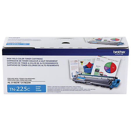 Brother® TN-225C High-Yield Toner Cartridge, Cyan