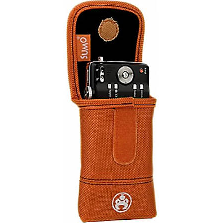 SUMO Carrying Case (Flap) iPod, iPhone, Digital Player, Cellular Phone, Camera - Orange - Denier Nylon, Ballistic Nylon - Belt Clip
