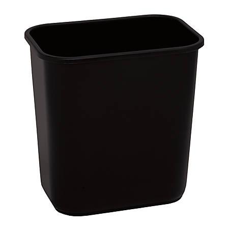 "Highmark™ Wastebasket, 3.25 Gallons, 12 1/4""H x 8 1/2""W x 12""D, Black"
