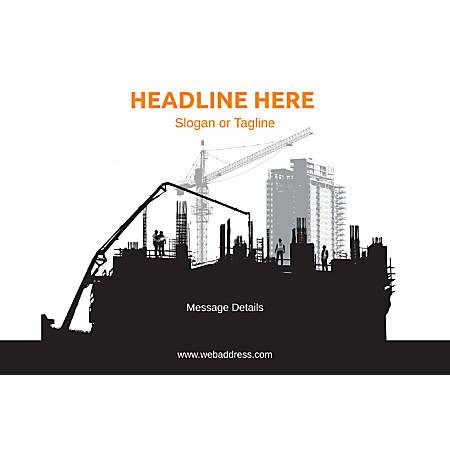 Custom Poster, Construction Site, Horizontal
