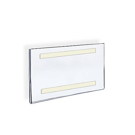 """Azar Displays Acrylic Sign Holders With Adhesive Tape, 8"""" x 10"""", Clear, Pack Of 10"""