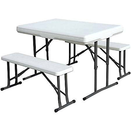 Stansport Folding Picnic Table With Bench White By Office Depot - Office picnic table