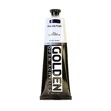 Golden OPEN Acrylic Paint, 5 Oz Tube, Dioxazine Purple