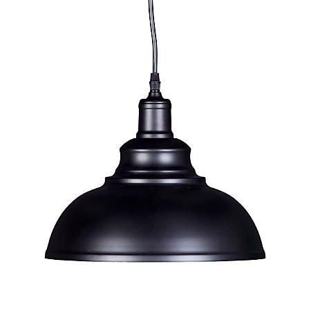 "Southern Enterprises Morova LED Bell Pendant Lamp, 8-1/2""H, Matte Black"