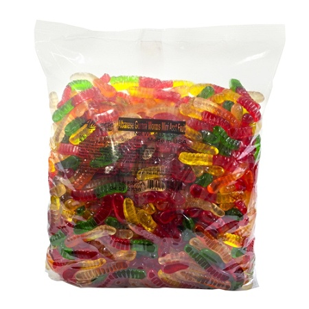 Albanese Confectionery Mini Fruit Gummy Worms 5 Lb Bag By Office